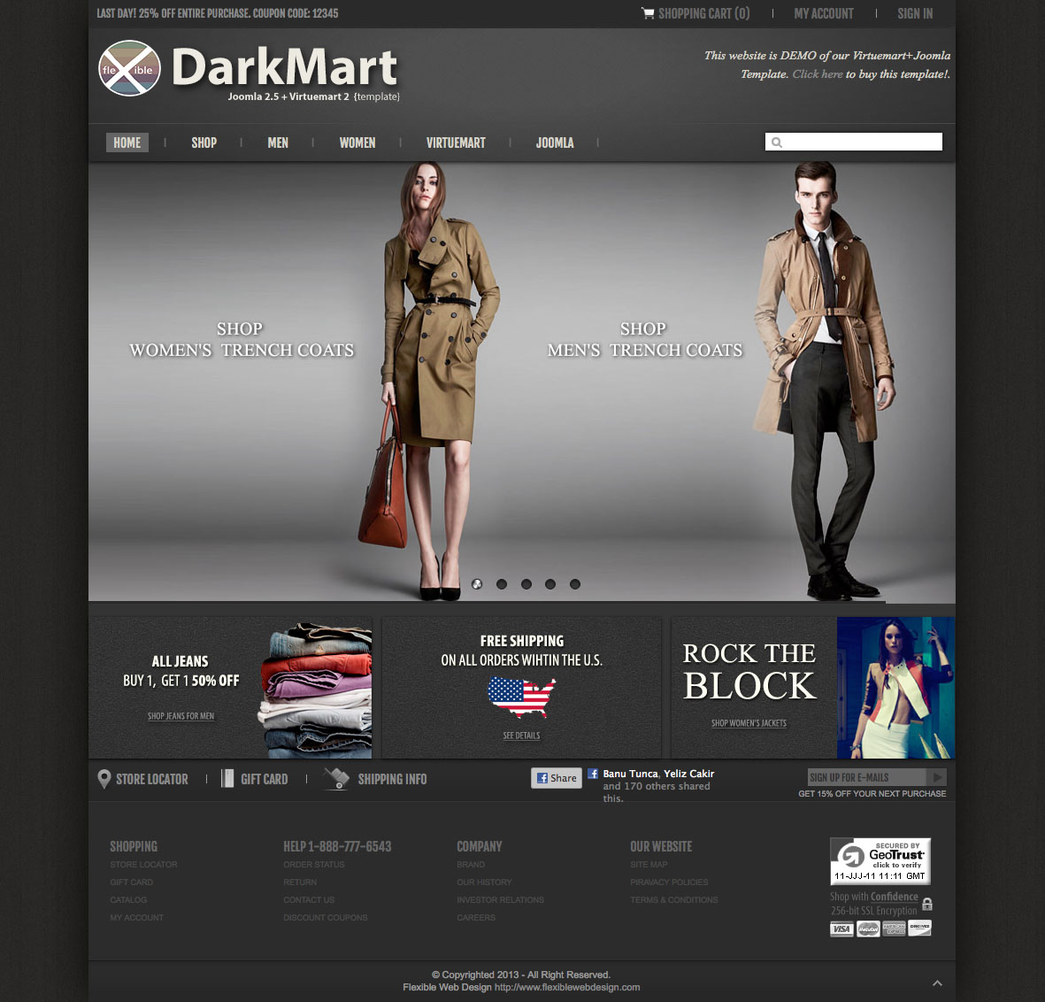 joomla virtuemart template darkmart blog virtuemart