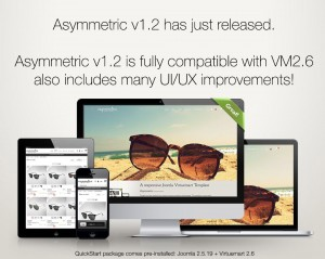 Asymmetric - Joomla Virtuemart Template - Compatible with VM2.6