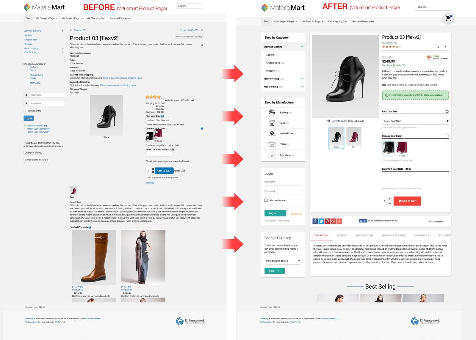 Material Design Virtuemart 3 Template - MaterialMart