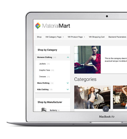 Virtuemart Template - MaterialMArt - Excelent Support