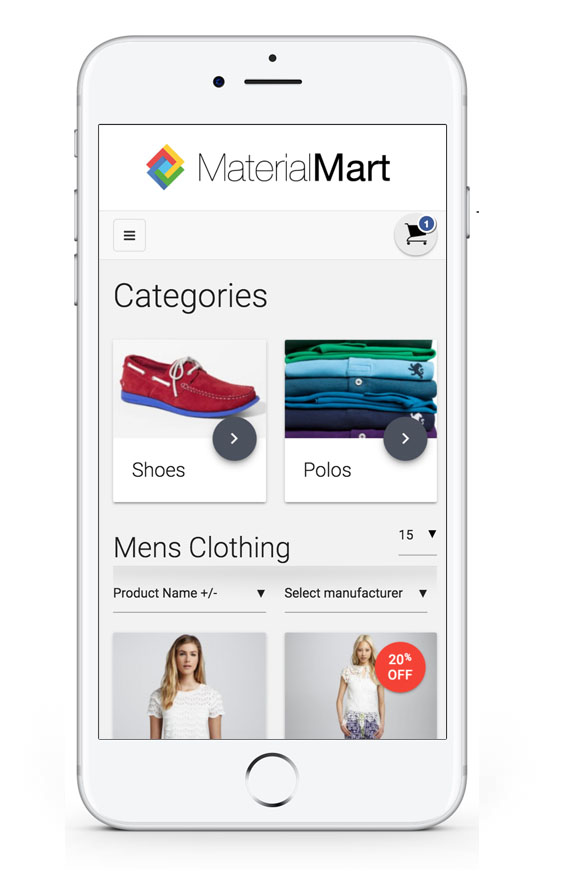 MaterialMart is a Responsive Virtuemart Template