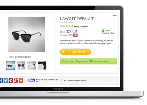 joomla virtuemart template Asymmetric - Multiple Product Details Page